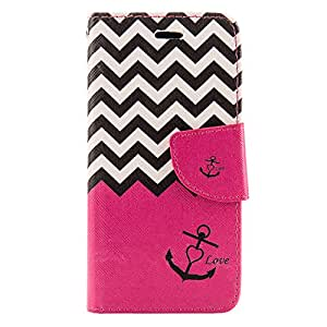 SumacLife Wallet Stand Case for the iPhone 6 - Retail Packaging - Pink Anchor