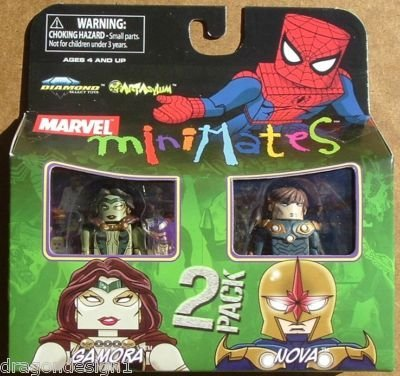Picture of Art Asylum Marvel MiniMates Series 23 Mini Figure 2Pack Gamora & Nova (B001QMNYI6) (Marvel Action Figures)