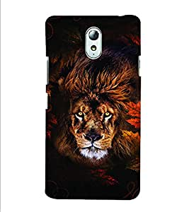 PrintVisa Animal Lion Print & Pattern 3D Hard Polycarbonate Designer Back Case Cover for Lenovo Vibe P1M