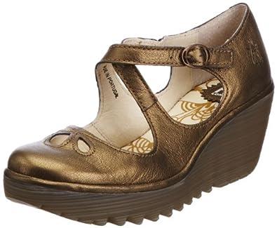 Fly London Women's Yate Bronze Wedges Heels P500275025 8 UK