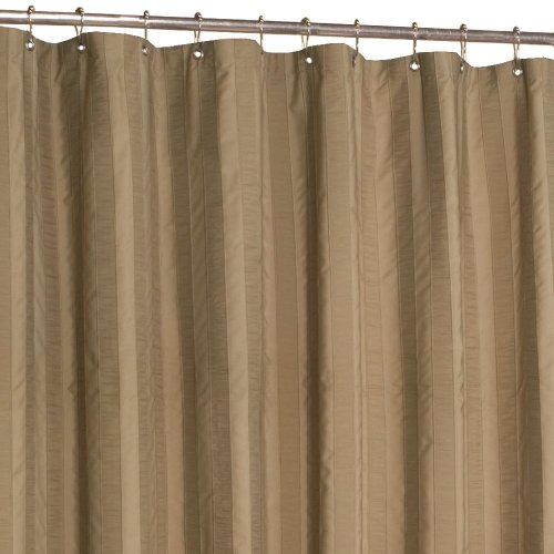 Maytex Chadwell Fabric Shower Curtain Tan