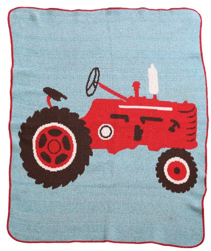 Green 3 Throw Blanket, Tractor - 1