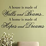 Wall Quote Sticker 'Hopes and Dreams' - Art WA229X MEDIUM / WHITE