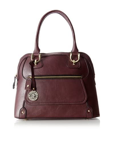 London Fog Women's Knightsbridge Dome Satchel, Bordeaux, One Size As You See