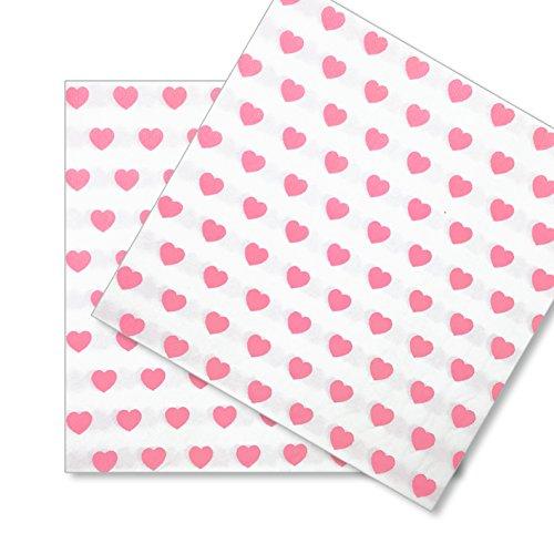 20x papierservietten servietten herz einssein 33x33cm weiss rosa einwegservietten. Black Bedroom Furniture Sets. Home Design Ideas