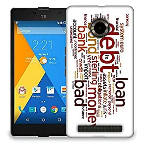 Snoogg Bank Designer Protective Back Case Cover For MICROMAX YU YUPHORIA