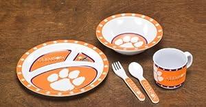 Buy NCAA Clemson Tigers 5-Piece Kids' Dish Set by BSI
