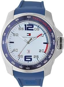 Tommy Hilfiger 1790855 Uhr Herrenuhr Kautschuk Edelstahl 50m Analog Datum blau