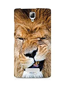 Amez designer printed 3d premium high quality back case cover for Lenovo A2010 (naughty lion)