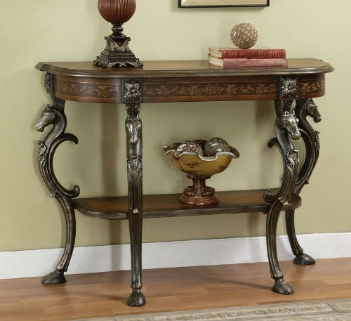 Cheap Masterpiece Mahogany Wild Horses Console Table (416-225)