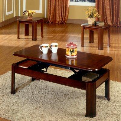 Steve Silver Nero Lift Top Rectangle Coffee Table Set in Espresso - NE5000E