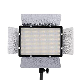 Andoer PH-680S LED Video Light Lamp Adjustable Color Temperature 3200K-5600K with 2.4G Wireless Remote Control Bracket Holder for Canon Nikon Pentax Camera DV Camcorder