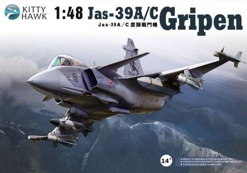 キティホーク 1/48 サーブ JAS39A/C グリペン【KH80117】