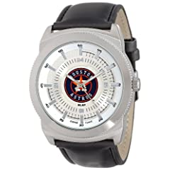 Game Time Mens MLB-VIN-HOU Vintage MLB Series Houston Astros 3-Hand Analog Watch by Game Time