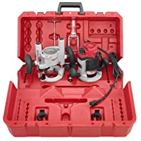 Milwaukee 5616-24 2-1/4 Max-Horsepower EVS Multi-Base Router Kit Includes Plunge Base and BodyGrip Fixed Base from Milwaukee