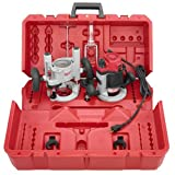 Milwaukee 5616-24 2-1/4 Max-Horsepower EVS Multi-Base Router Kit Includes Plunge Base and BodyGrip Fixed Base (Color: Red, Tamaño: 4 in. D x 6 in. W x 8 in. H)
