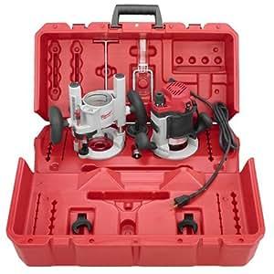 Milwaukee 5615-24 1.75-Horsepower Multi-Base Router Kit Includes Plunge Base and BodyGrip Fixed Base