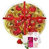 Rich Choco Platter With Love Card And Rose - Chocholik Luxury Chocolates