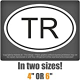 carsticker flag decal sticker colors country mark in two sizes Turkey TRlaminated very long durable