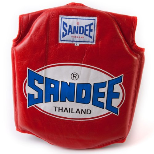 Sandee - Body Shield - Red - Size L (For Boxing, MMA, UFC, Muay Thai)