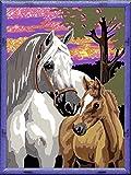 Ravensburger Malen nach Zahlen 28568 - Pferde im Sonnenuntergang, Malset hergestellt von Ravensburger Spieleverlag