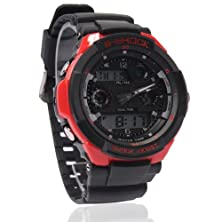 buy 50M Boys Girls Sport Digital Watch With Alarm Stopwatch Chronograph Unisex - Red