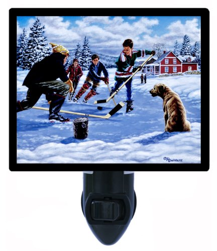 Sports Night Light - This Time For Sure - Hockey