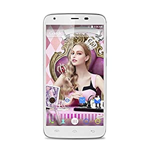 DOOGEE T6 5.5 Inch 4G LTE Smartphone Android 5.1 Quad Core 2GB/16GB Quick Charge + 6250mAh Battery Mobile Phone HotKnot OTG Dual Flashlight Cellphone (White)