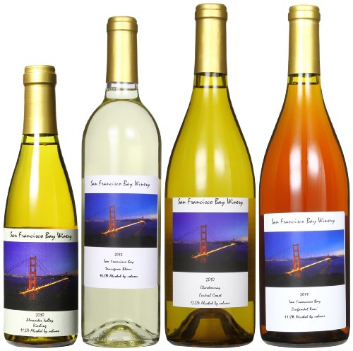 San Francisco Bay Winery White Wines And Rose Mixed Pack, 3 X 750 Ml And 1 X 350 Ml
