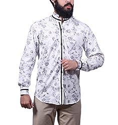 Fadjuice Men's Shirt (Fj44240S_Black White_Small)