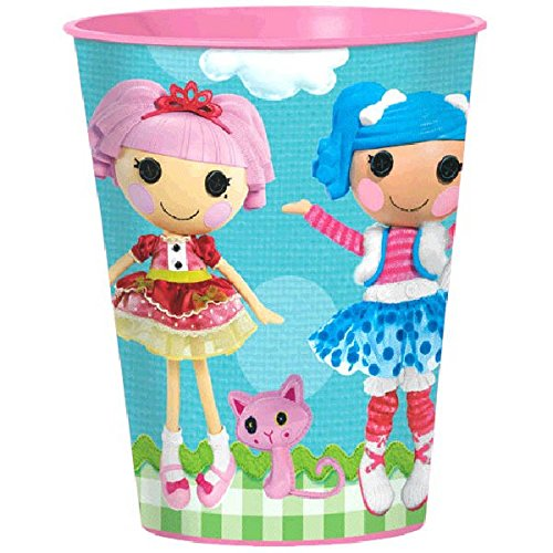 Amscan Adorable Lalaloopsy Plastic Favor Cup (1 Piece), Blue/Pink, 16 oz - 1