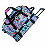 Athalon Luggage Carryon Equipment Wheeled Duffel Bag, Graffiti, One Size