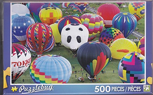 Puzzlebug 500 ~ Colorful Hot Air Balloons by LPF - 1