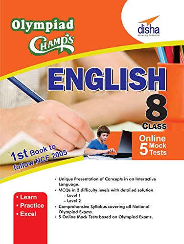 Olympiad Champs English Class 8 with 5 Mock Online Olympiad Tests (English)