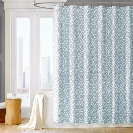 Madison Park Delray Shower Curtain - Blue - 72x72 - Shower Curtains ...