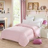 Lovo Luxury Serena Goose Down Alternative Duvet Insert Super Soft All-season Pink Full/queen