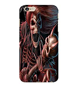 ColourCraft Rockstar Skeleton Design Back Case Cover for APPLE IPHONE 6S PLUS