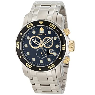 Invicta Men's 10382 Pro Diver Chronograph Black Carbon Fiber Dial Watch