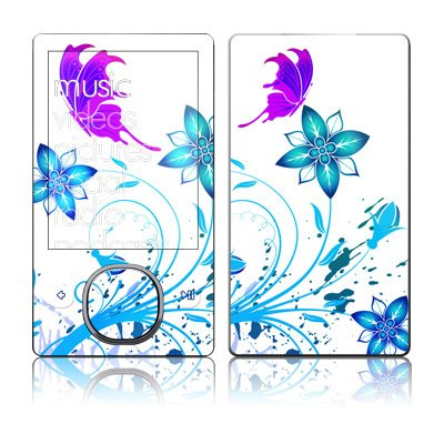 Flutter Design Skin Decal Protective Sticker for Zune 80GB / 120GB 2 pcs 1 pair colorskin sticker cool sword design led light skin decal for ps4 controllers led sticker for ps4 skin stickers