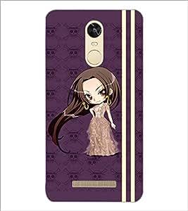 PrintDhaba Long Hair Doll D-4810 Back Case Cover for XIAOMI REDMI NOTE 3 (MEDIATEK) (Multi-Coloured)