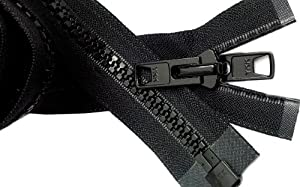 Bimini Top #10 Black Marine Double Pull Zipper 42