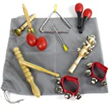kilofly Kids Mini Band Musical Instruments Rhythm Toys Value Pack [Set of 11]