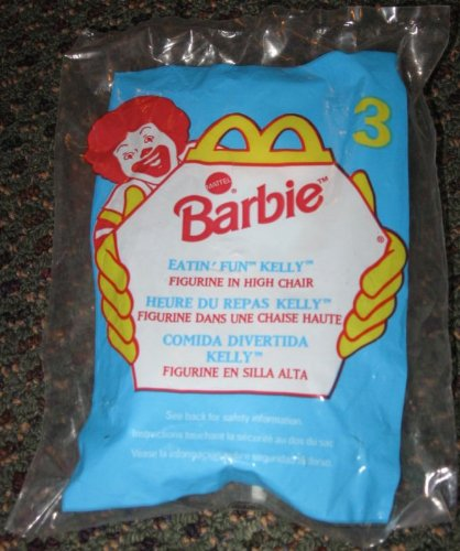 1998 Mcdonalds Barbie Eatin Fun Kelly Happy Meal Toy #3 - 1