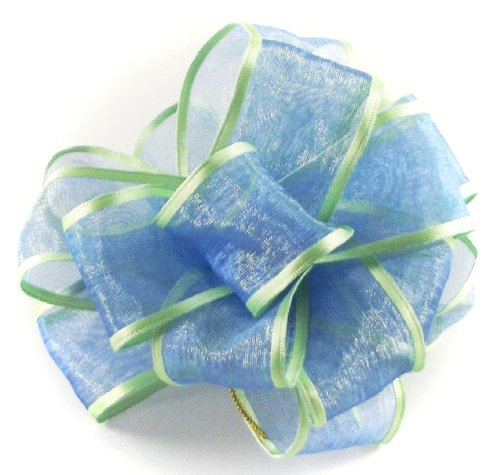 Offray Wired Edge Pirouette Craft Ribbon, 1-1/2-Inch Wide by 15-Yard Spool, Lime