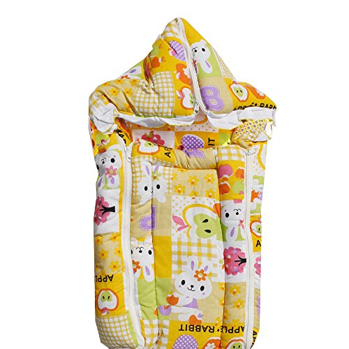 My Angel Baby bed Carrier cum wrap with Double chain Yellow