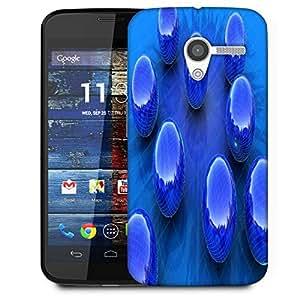 Snoogg Blue Balls Designer Protective Phone Back Case Cover For Moto X / Motorola X