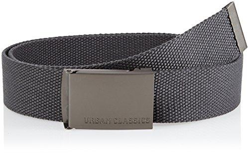 Urban Classics Canvas Belts, Cintura Unisex-Adulto, Grau (Charcoal 91), 120 cm