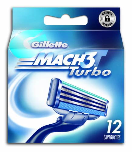 Gillette 80201231 Mach3 Turbo - Confezione di 12 lamette