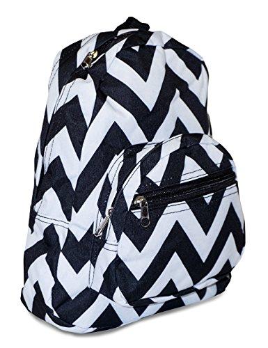 Toddler Backpack, Chevron Print (Black White)