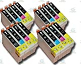 16 Chipped Epson T0711-4 (T0715) Cheetah Compatible Ink Cartridges for Epson Stylus SX105 Printer